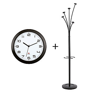 Offerta Orologio Easy Time + Appendiabiti Festy, Colore Nero