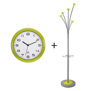 Offerta Orologio Easy Time + Appendiabiti Festy, Colore Verde