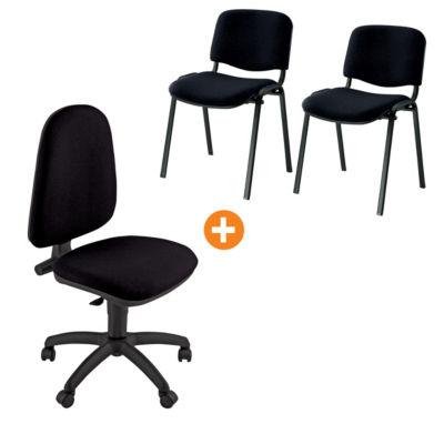 """Offerta sedia """"Swing"""" + coppia sedie attesa impilabili ..."""