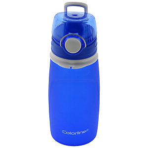 OFFICE Colorline Botella de agua plegable, válvula antifugas, azul, 550 ml