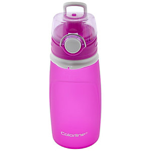 OFFICE Colorline Botella de agua plegable, válvula antifugas, fucsia, 550 ml