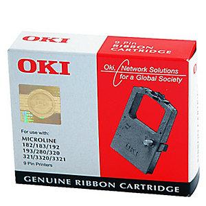 OKI Ruban d'impression, 09002303, noir