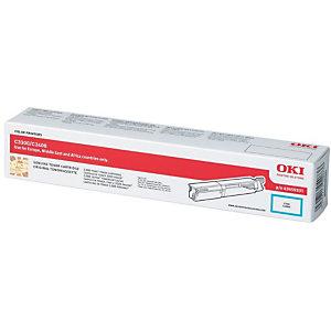 OKI Toner haute définition microfin, 43459331, (pack de 1), cyan
