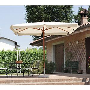 Ombrellone rettangolare Standard, Palo centrale, 3 x 4 m, Ecrù