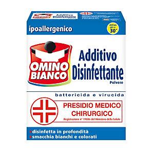 OMINO BIANCO Additivo Disinfettante per Lavatrici Polvere Ipoallergenico 450 g