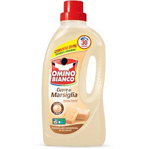 OMINO BIANCO Detersivo liquido per lavatrice, Cuore di Marsiglia, 30 lavaggi, Flacone 1,5 l