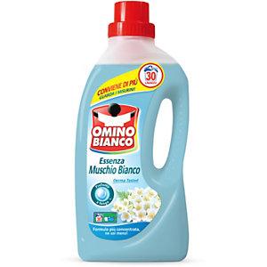 OMINO BIANCO Detersivo liquido per lavatrice, Essenza Muschio Bianco, 30 lavaggi, Flacone 1,5 l