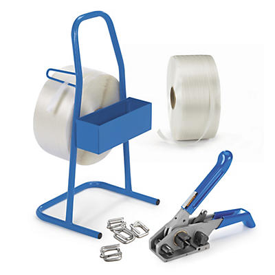 Pack  de cerclage manuel feuillard textile fil à fil##Omsnoeringskit textielband