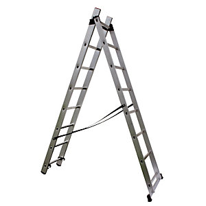 Omvormbare ladder 2-delige 2 x 8 treden HAILO
