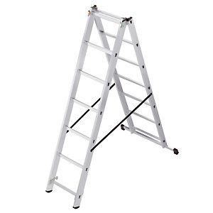 Omvormbare ladder 2-delige HAILO 2 x 7 treden