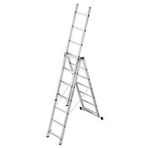 Omvormbare ladder 3-delig HAILO 3 x 7 treden