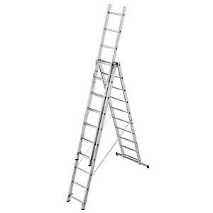 Omvormbare ladder 3-delige HAILO 3 x 11 treden