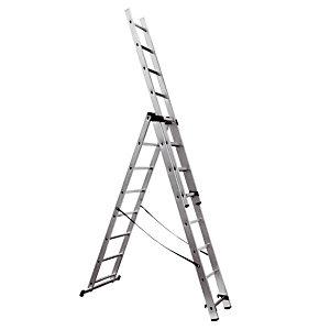 Omvormbare ladder 3-delige HAILO 3 x 8 treden