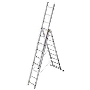 Omvormbare ladder 3-delige HAILO 3 x 9 treden