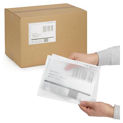 Pochette porte-documents transparante en papier##Onbedrukte papieren documenthoes
