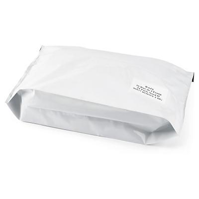 Ondoorzichtige plastic envelop met bodemvouw