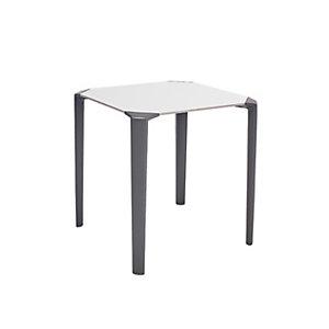 One Table empilable de restauration carrée 70 x 70 cm Usage extérieur - Blanc/Anthracite