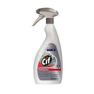 Ontkalkende sanitaire reiniger 2 in 1 Cif fles van 750 ml
