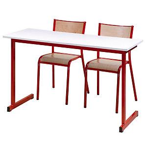 Opleidingstafel 2 plaatsen rode poten