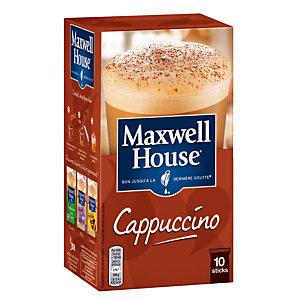 Oploskoffie Maxwell House Cappuccino, doos van 10 sticks