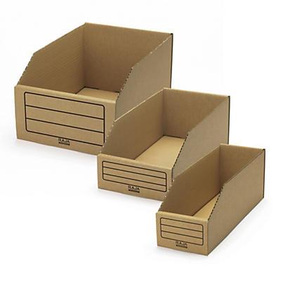 Oppbevaringskasser av hvit bølgepapp - Raja