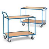Opruiming: Etagewagen met houten legborden