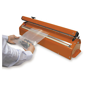A plastic bag heat sealer essentially welds plastic togethe