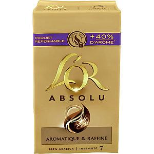 L'OR Absolu, café moulu 100% arabica, intensité 7 - Paquet de 250 g (Lot de 2 paquets)