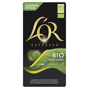 L'OR Espresso Capsules Café Bio Organic pour machine Nespresso, intensité : 7 - Boîte de 10