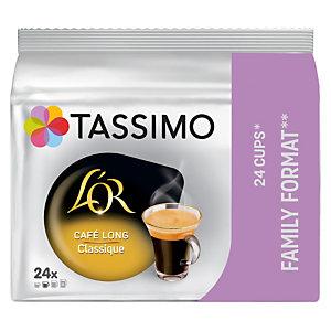 L'OR Paquet de 24 dosettes TASSIMO Café long classique - Intensité 4