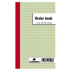 Order Books gelijnd 2 exemplaren model B3128 formaat 17.5 x 10.5 cm Exacompta