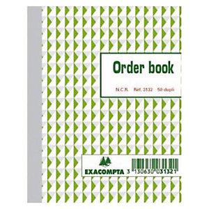 Order Books gelijnd 2 exemplaren model B3132 formaat 13,5 x 10,5 cm Exacompta