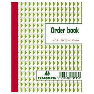 Order Books gelijnd 3 exemplaren model B3133 formaat 13.5 x 10.5 cm Exacompta