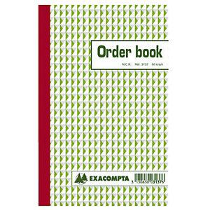 Order Books gelijnd 3 exemplaren model B3137 formaat 21 x 13,5 cm Exacompta