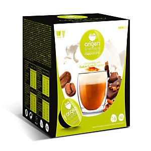 origen & sensations Cappuccino Cápsulas de café, tostado medio, 16 dosis, 160 g
