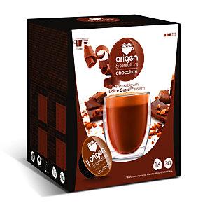 origen & sensations Chocolate Cápsulas de chocolate con leche, 16 dosis, 160 g