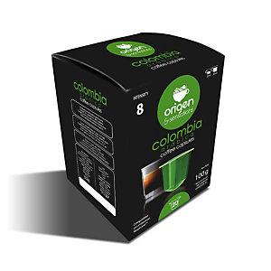 origen & sensations Colombia Arábica Cápsulas de café, tostado medio-intenso, 20 dosis, 100 g