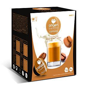 origen & sensations Cortado Cápsulas de café, tostado medio, 16 dosis, 96 g