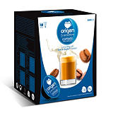 origen & sensations Cortado Descafeinado Cápsulas de café, tostado medio, 16 dosis, 96 g