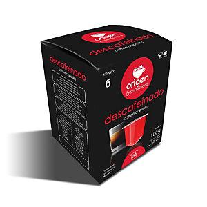 origen & sensations Descafeinado Cápsulas de café, tostado bajo-medio, 20 dosis, 100 g