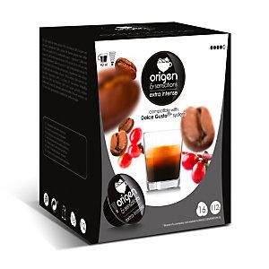 origen & sensations Extra Intenso Cápsulas de café, tostado intenso, 16 dosis, 112 g