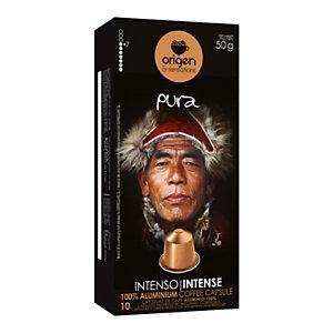 origen & sensations Pura Intenso Cápsulas de café, tostado medio-intenso, 10 dosis, 50 g