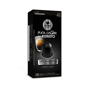 origen & sensations Pura Ristretto Cápsulas de café, tostado medio, 10 dosis, 50 g
