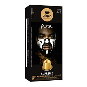 origen & sensations Pura Supreme Cápsulas de café, tostado medio, 10 dosis, 50 g