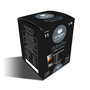 origen & sensations Ristretto Cápsulas de café, tostado intenso, 20 dosis, 100 g