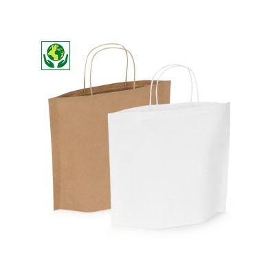 Originelle Kraftpapier-Tragetasche mit Bodenfalte - RESTPOSTEN