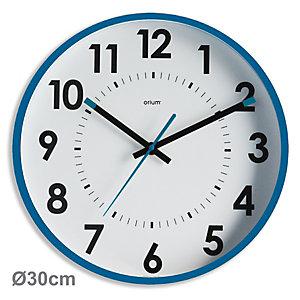 ORIUM Abylis - Horloge analogique murale silencieuse à quartz - Diamètre 30 cm - Bleu