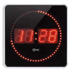 ORIUM Horloge digitale à Led 2en 1, 28 cm - Alu / noir