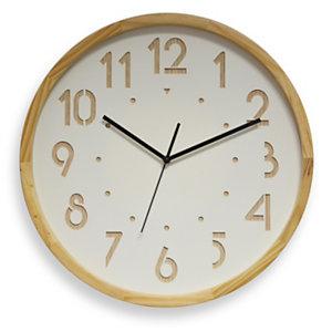 ORIUM Horloge murale analogique Oslo silence, Ø 41 cm - Coloris bois clair