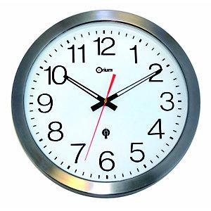 ORIUM Horloge murale étanche radio-contrôlée, Ø 35,5 cm - Inox